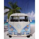 no name Original Volkswagen Fleece-Decke VW Bulli T1 blau