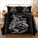 no name WONGS BEDDING 3D Totenkopf Bettbezug