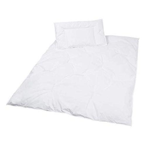 ZOLLNER Kinder Bettenset, Daunen Bettdecke und Kopfkisse
